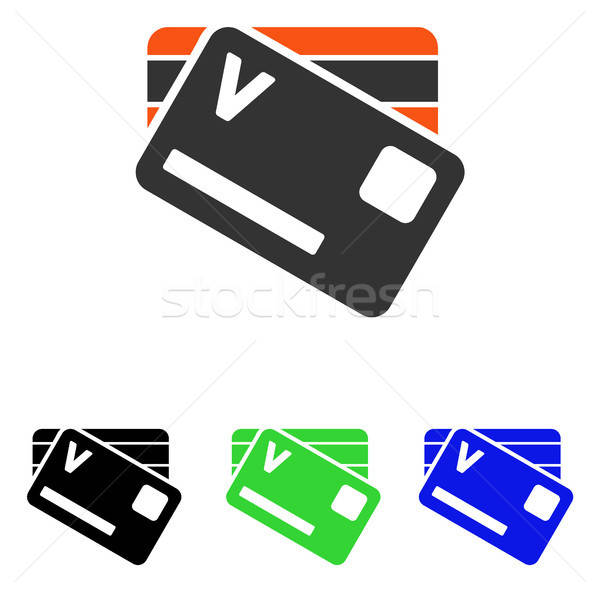 Banking Cards Flat Vector Icon Stock photo © ahasoft