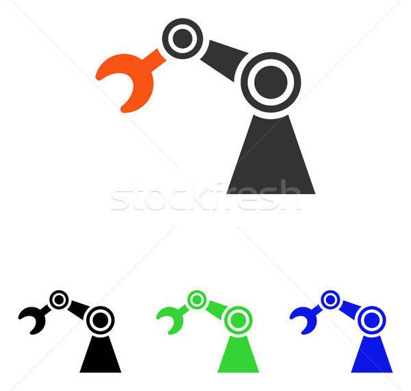 Vektor ikon illusztráció stílus ikonikus színes Stock fotó © ahasoft