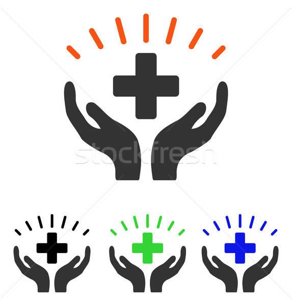 Médicos vector icono pictograma ilustración estilo Foto stock © ahasoft