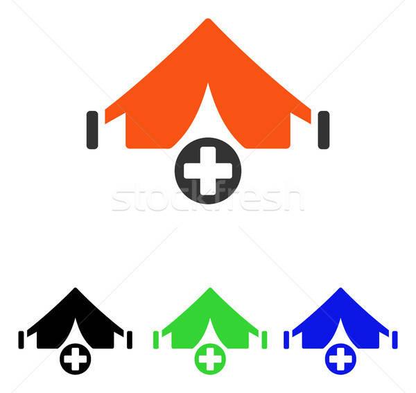 Mező kórház vektor ikon piktogram illusztráció Stock fotó © ahasoft
