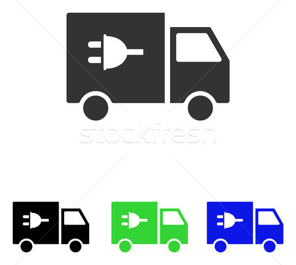 Electric Car Flat Vector Icon Stock photo © ahasoft