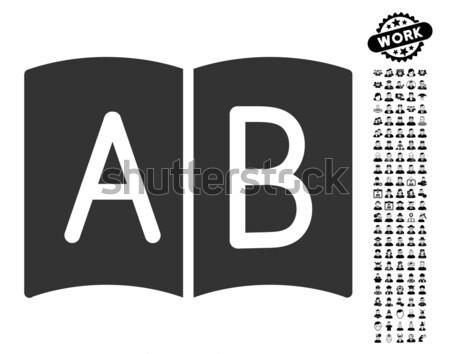 ハンドブック アイコン ベクトル 色 黒 ストックフォト © ahasoft