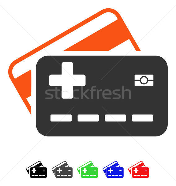 Medical Insurance Cards Flat Icon Stock photo © ahasoft