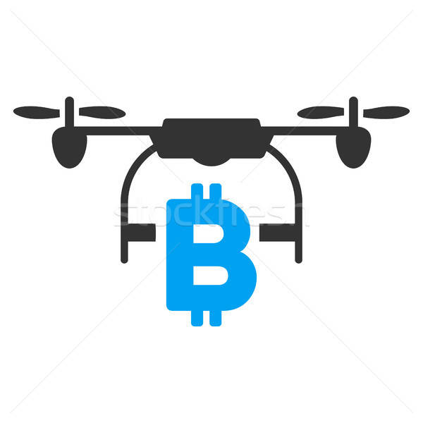Bitcoin Drone Delivery Flat Icon Stock photo © ahasoft