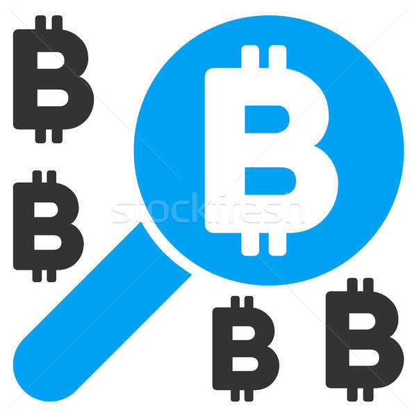 Bitcoin Search Flat Icon Stock photo © ahasoft