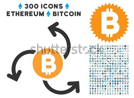 Bitcoin Source Swirl Flat Icon Stock photo © ahasoft