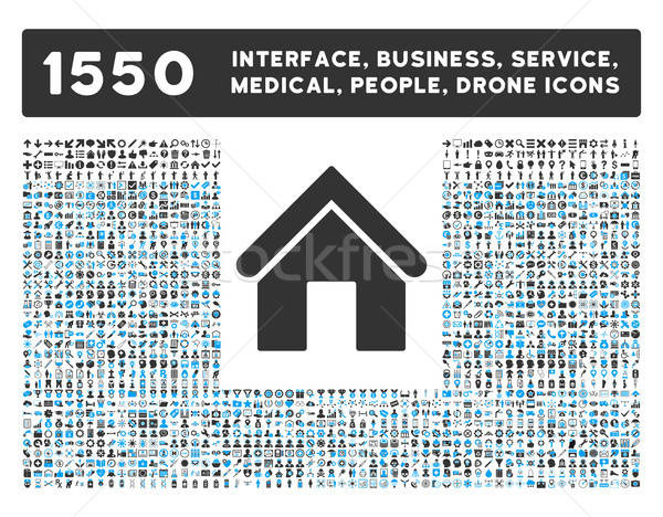 Stockfoto: Home · icon · meer · interface · business · tools