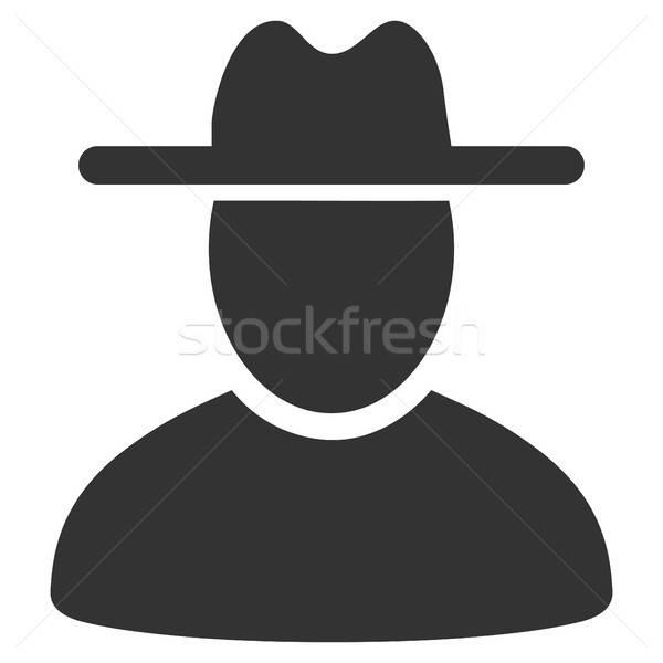 Kalap férfi ikon vektor stílus grafikus Stock fotó © ahasoft