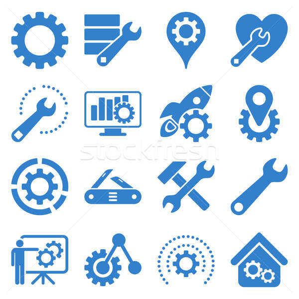 Stock photo: Options and service tools icon set