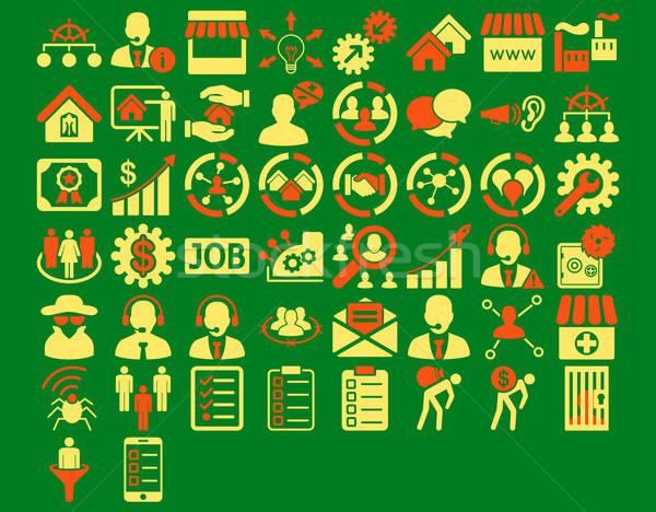 Business Icon Set Stock photo © ahasoft