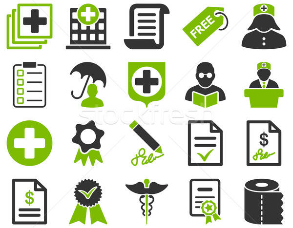 Medical bicolor icons Stock photo © ahasoft