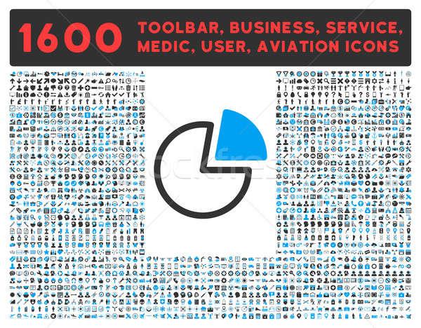 Pie gráficos icono grande pictograma colección Foto stock © ahasoft