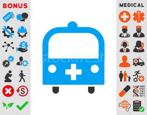 Medical Bus Icon Stock photo © ahasoft