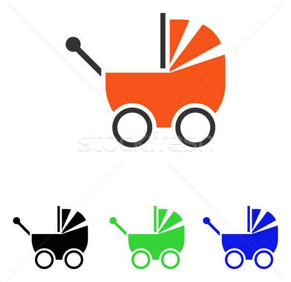 Kinderwagen vector icon illustratie stijl Stockfoto © ahasoft