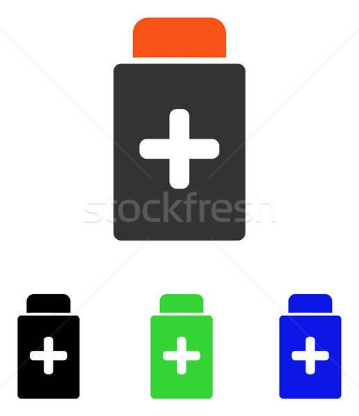 Medication Bottle Flat Vector Icon Stock photo © ahasoft