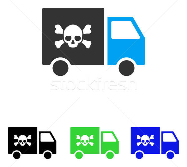 Giftig vervoer auto vector icon illustratie Stockfoto © ahasoft