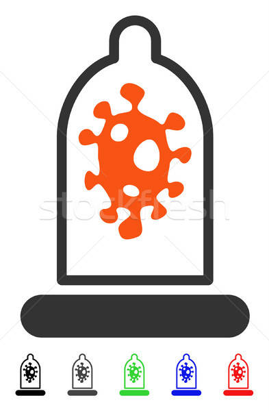 Stock photo: Infection Protection Flat Icon