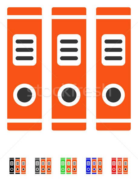 Office Books Flat Icon Stock photo © ahasoft