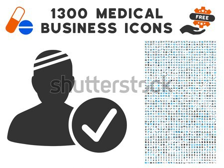 Patient Vaccination Flat Icon Stock photo © ahasoft
