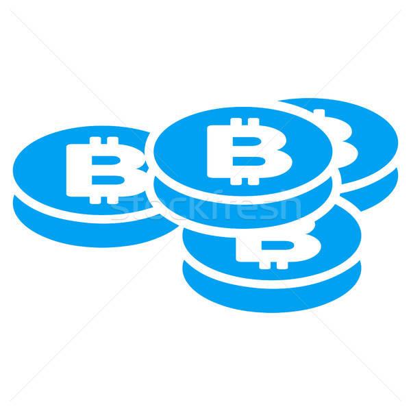 Bitcoin munten icon vector toepassing web design Stockfoto © ahasoft