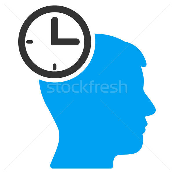 Time Management Head Flat Icon Stock photo © ahasoft