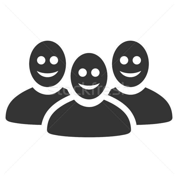 Stock fotó: Boldog · emberek · csoport · ikon · piktogram · stílus · grafikus