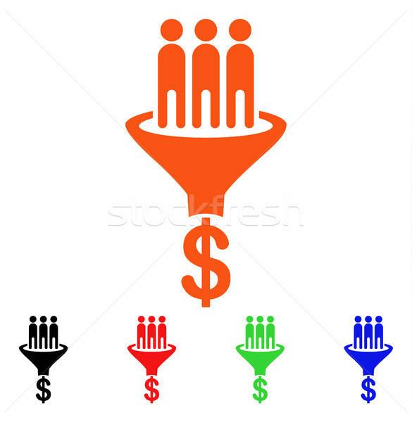 продажи воронка вектора икона стиль iconic Сток-фото © ahasoft