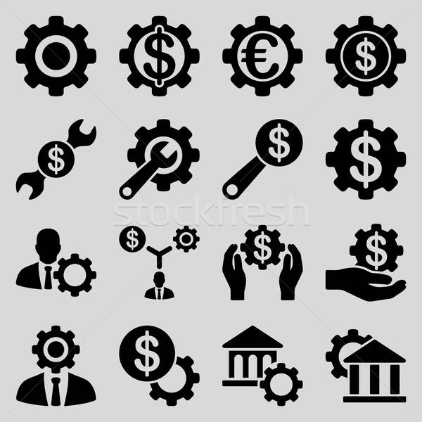 Financial tools and options icon set Stock photo © ahasoft