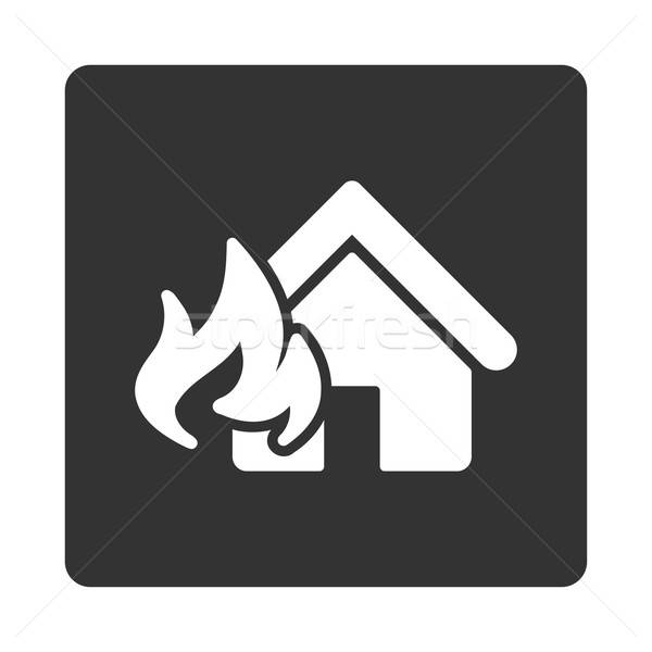 Stock photo: Fire Damage icon