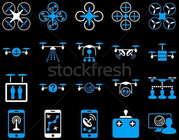 Levegő szerszám ikonok ikon gyűjtemény stílus képek Stock fotó © ahasoft