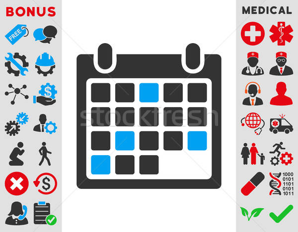 Kalender afspraak icon vector stijl symbool Stockfoto © ahasoft