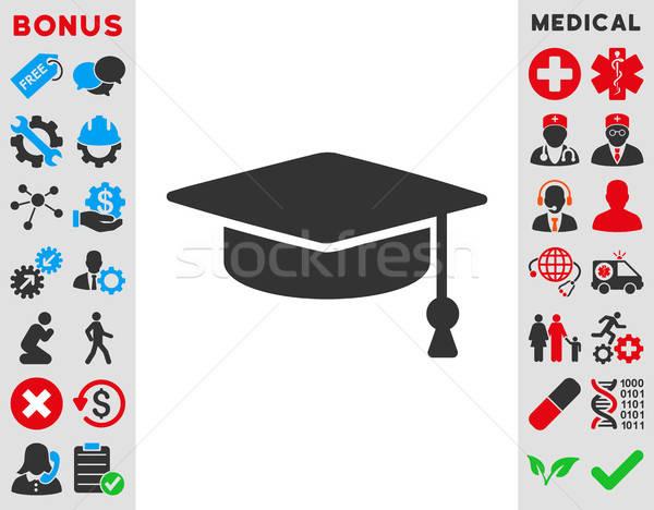 Graduation Cap Icon Stock photo © ahasoft