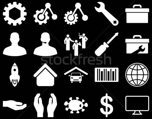 инструменты иконки вектора набор стиль Сток-фото © ahasoft