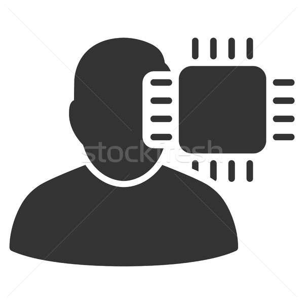 Neuro Interface Raster Icon Stock photo © ahasoft