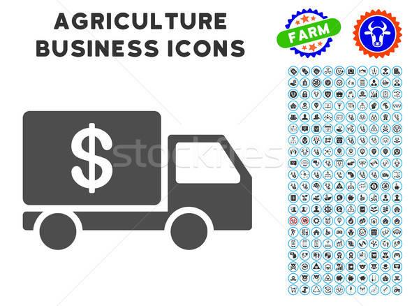 Trésorerie livraison icône agriculture gris Photo stock © ahasoft