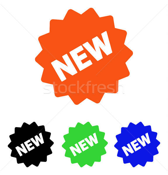 Stock photo: New Tag Flat Vector Icon