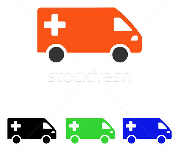 Urgence van vecteur icône illustration style Photo stock © ahasoft