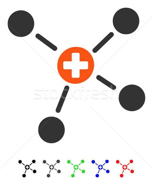 Medicine Links Flat Icon Stock photo © ahasoft