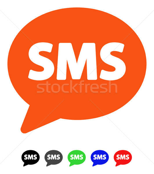 SMS Flat Icon Stock photo © ahasoft