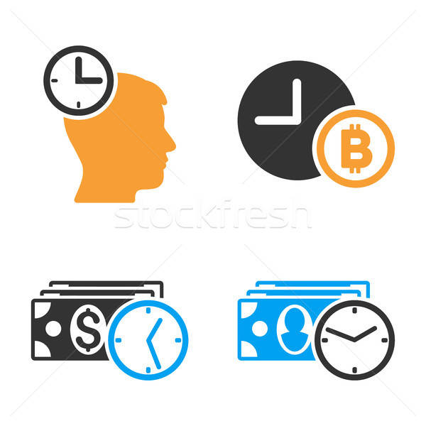 Credit Time Vector Icon Set Stock photo © ahasoft