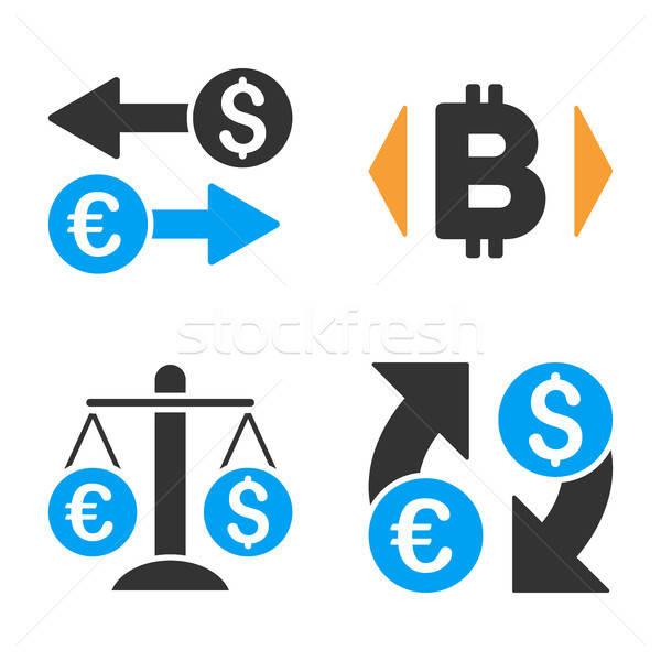 Monnaie échange vecteur style argent Photo stock © ahasoft