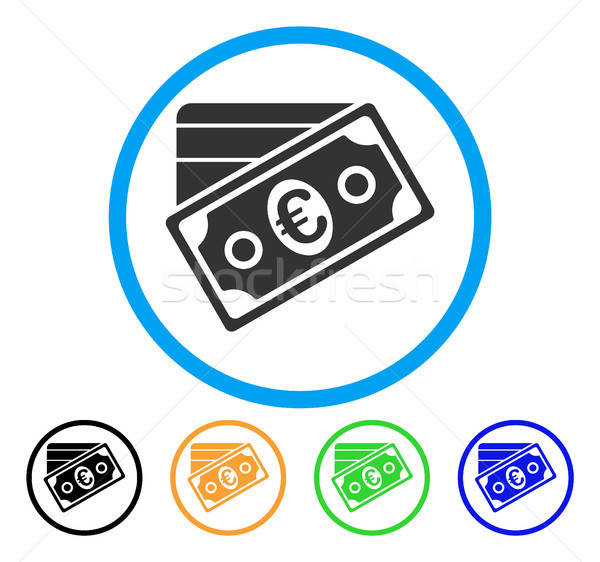 Euro Money Credit Card Rounded Icon Stock photo © ahasoft