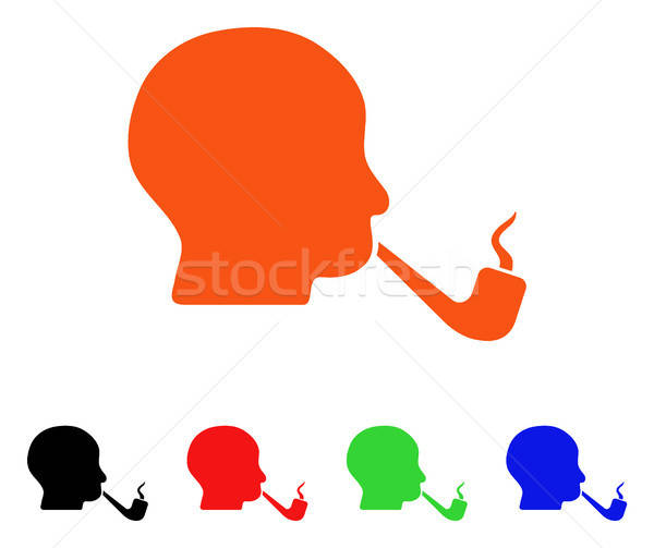 Smoking Detective Vector Icon Stock photo © ahasoft