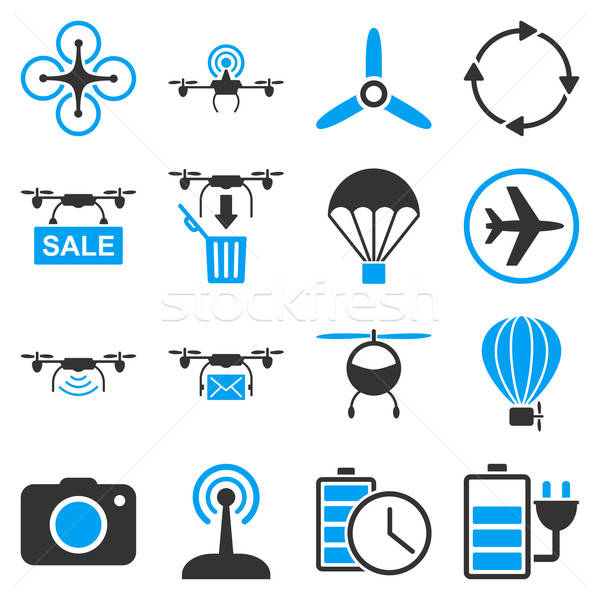 Copter tools icon set Stock photo © ahasoft