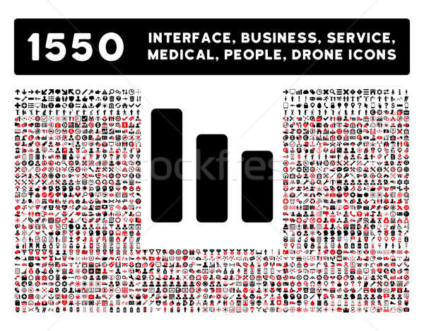 Bar Chart Decrease Icon and More Interface, Business, Tools, People, Medical, Awards Flat Glyph Icon Stock photo © ahasoft