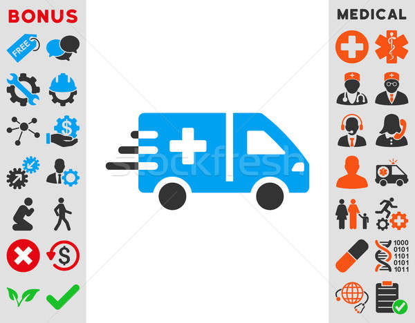 Emergency Car Icon Stock photo © ahasoft