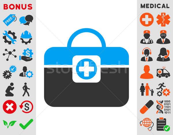 Medikus tok ikon stílus szimbólum kék Stock fotó © ahasoft