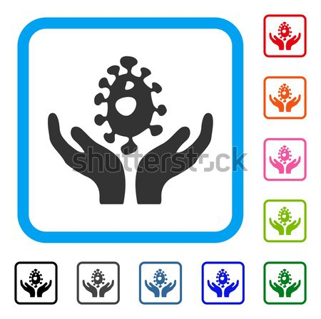 Cannabis Care Flat Vector Icon Stock photo © ahasoft