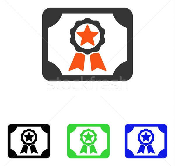 Gunning diploma vector icon pictogram illustratie Stockfoto © ahasoft