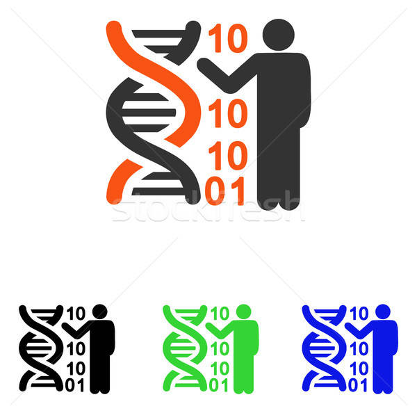 DNA Code Report Flat Vector Icon Stock photo © ahasoft
